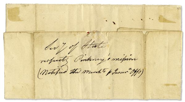 James Monroe Free Frank Signed as Secretary of State