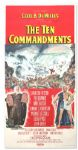 Large Ten Commandments Poster -- Three Sheet Poster Measures 41 x 81 -- Mounted on Linen