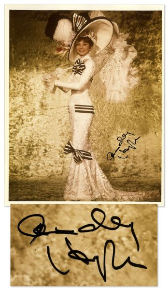 "Audrey Hepburn Costume Auction Audrey Hepburn Autograph 8"" x 10"" Photo From ""My Fair Lady"""