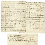 King William IV Autograph Letter Signed -- ...as for this rascal Bonaparte, I wish he was at the bottom of the sea...