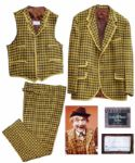 Red Skelton Famous Three Piece Checkered Suit Worn as Clem Kadiddlehopper on The Red Skelton Show