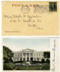 First Lady Edith Roosevelt Signed 1904 White House Postcard