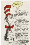 Dr. Seuss Autograph Letter Signed on Cat in the Hat Stationery