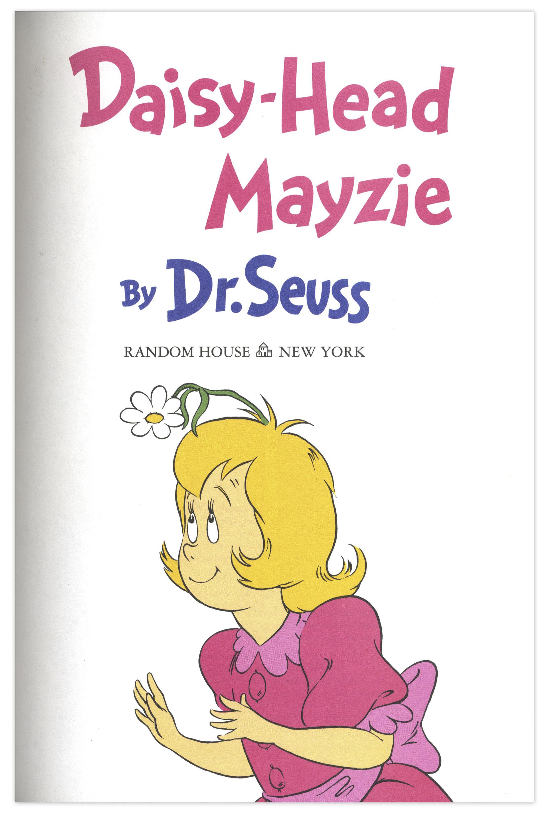 Daisy Head Mayzie Lot detail - dr. seuss '' daisy - head mayzie ...