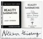 Allen Ginsberg Signed Reality Sandwiches 1953-60
