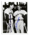 Joe DiMaggio and Ted Williams 8 x 10 Signed Photo -- With PSA/DNA COA