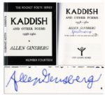 Allen Ginsberg Signed Copy of Kaddish & Other Poems