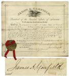 Scarce James Garfield Document Signed as President -- From 7 June 1881