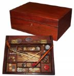 Civil War Era Sewing Box Likely Used in the War -- With Supplies Inside