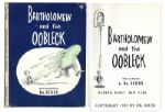 Dr. Seuss Bartholomew and the Oobleck First Edition, First Printing With First Printing Dustjacket