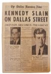 Dallas Newspaper Reporting the Assassination of JFK