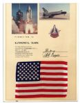 American Flag Flown in Space Aboard Columbia STS-1