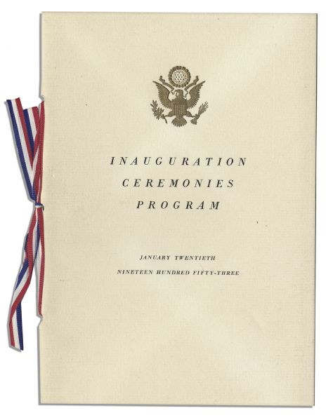 Dwight D. Eisenhower & Richard Nixon Presidential Inauguration Invitation and Program