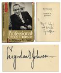 Lyndon B. Johnson Signed Book: The Professional