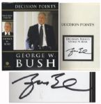 George W. Bush First Edition of Decision Points With Signed Bookplate
