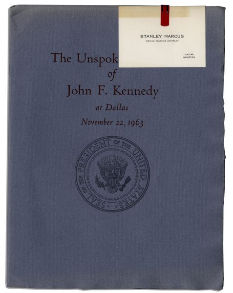 Transcript of the Address John F. Kennedy Planned to Give the Night of His Assassination
