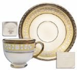 Clinton White House-Used China -- Cup & Saucer Set by Lenox From the Year 2000 -- Part of the First Order -- Fine