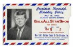 Ticket From New Yorks Birthday Salute To President Kennedy at Madison Square Garden -- Where Marilyn Monroe Sang Her Sexy Rendition of Happy Birthday to JFK