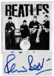 Beatles Poster Signed by Original Drummer Pete Best