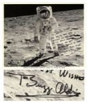 Buzz Aldrin Signed 8 x 10 Photograph on the Moon