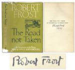 Robert Frost Signed Copy of The Road Not Taken