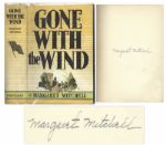 Margaret Mitchell Signed First Edition of Gone With The Wind