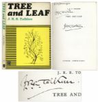J.R.R. Tolkien Twice-Signed Copy of Tree and Leaf -- Twice Signed
