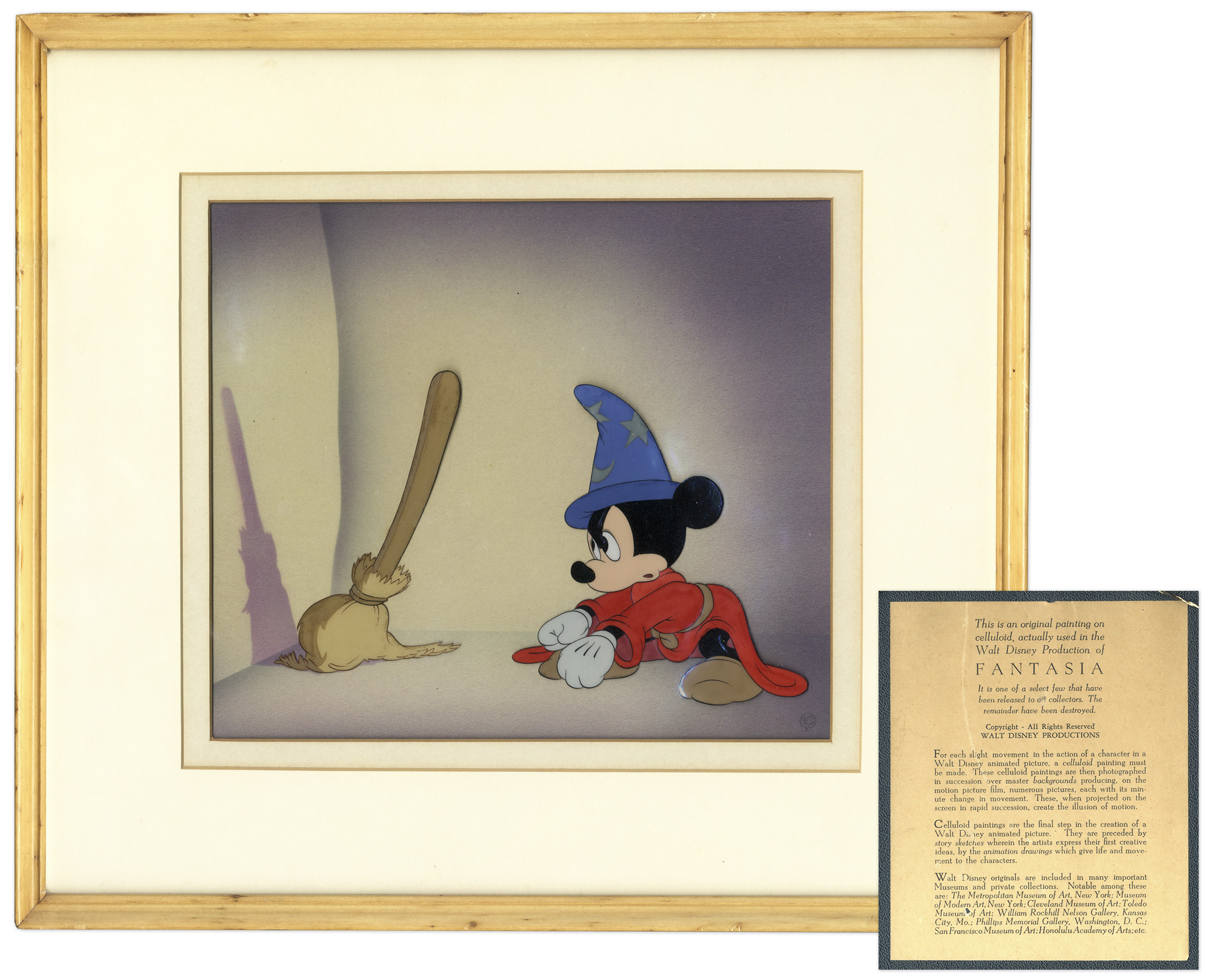 Lot Detail Mickey Mouse Fantasia Hand Painted Cel By