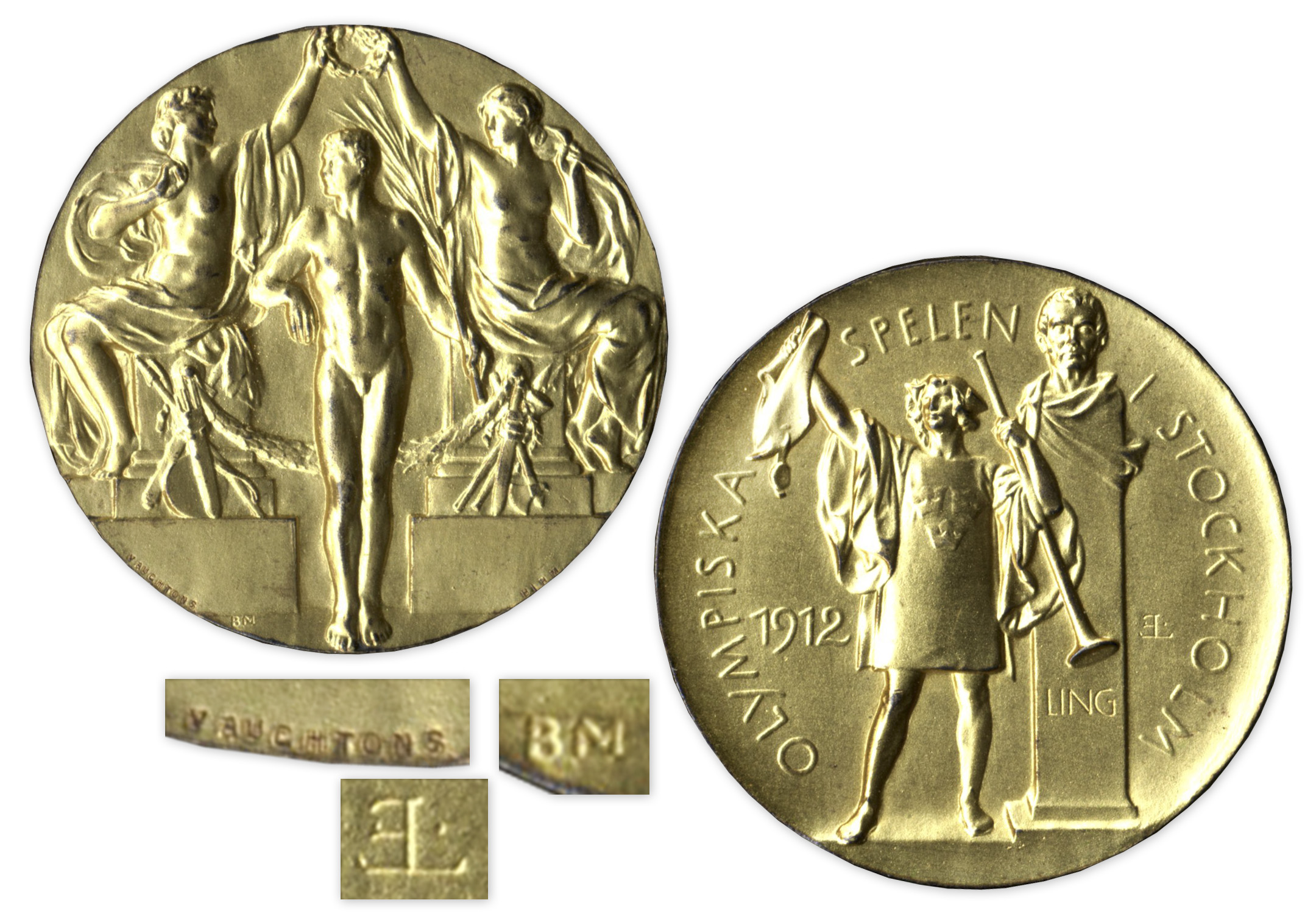 Gold Medal From the 1912 Summer Olympics, Held in Stockholm, SwedenAll > OlympicsAll > Featured