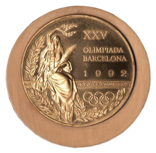 lot detail bronze medal from the 1992 summer olympics