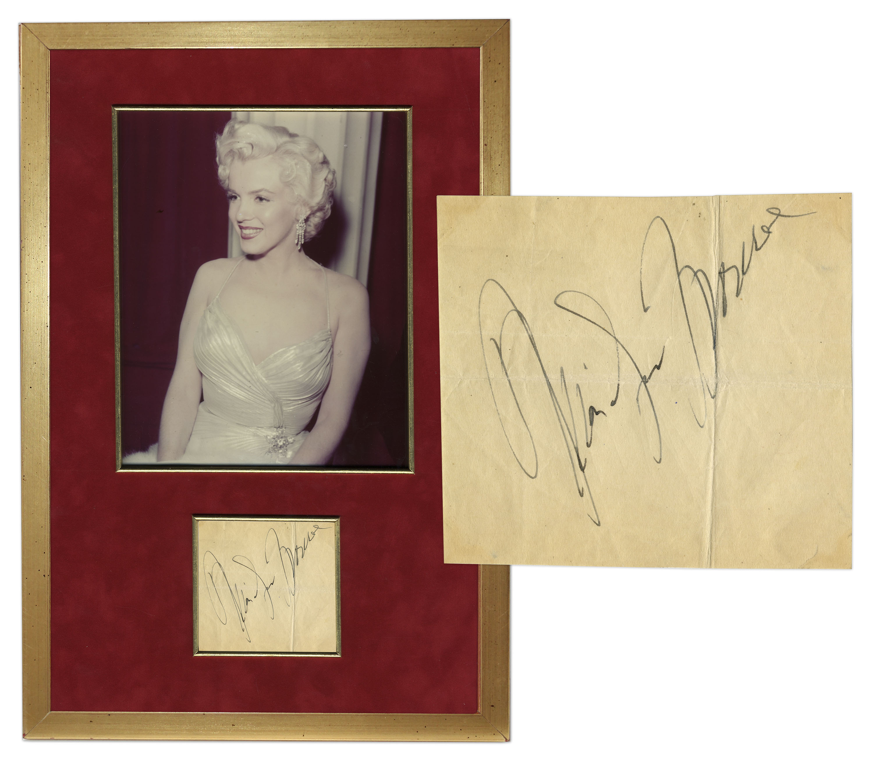 Marilyn Monroe Autograph Marilyn Monroe Signed Photo Display -- With PSA/DNA COA