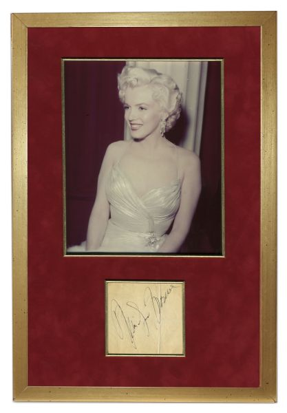 Marilyn Monroe Signed Photo Display -- With PSA/DNA COA