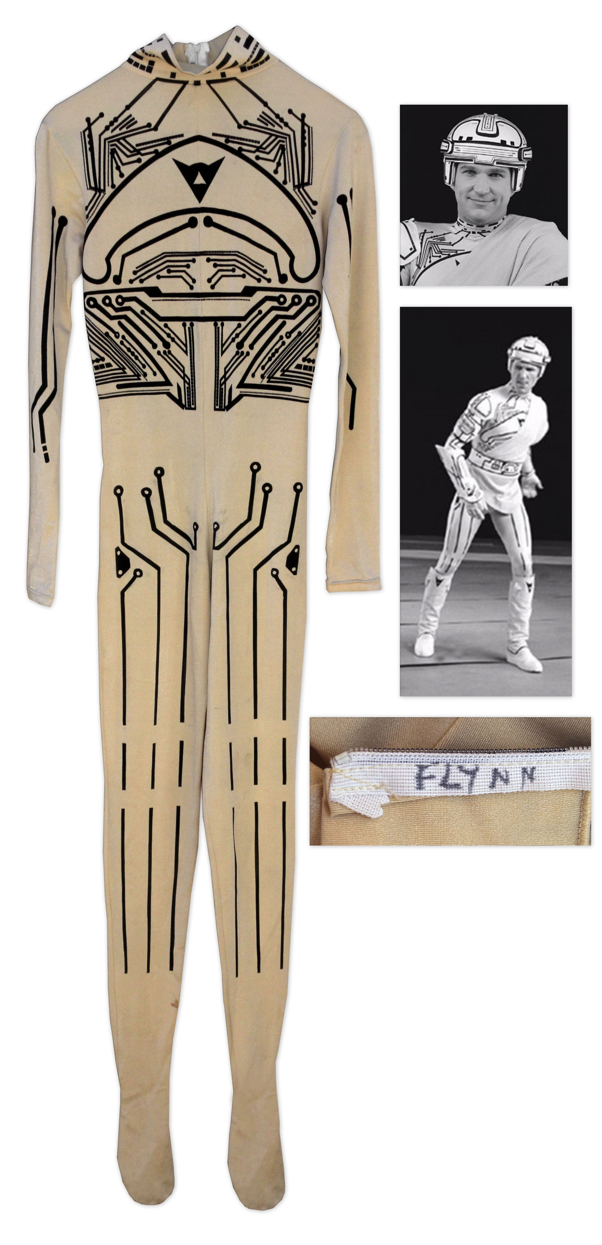 Tron Costume Jeff Bridges Screen-Worn Bodysuit From the 1982 Science Fiction Classic ''Tron''