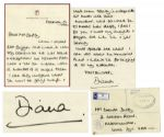 Princess Diana Autograph Letter Signed in 1991 -- Addressed to the Mother of First Pilot Killed in The Gulf War ...words seem totally inadequate at times like this... With COA From PSA/DNA