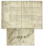 King George III Signed Military Commission From 1804