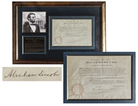 Abraham Lincoln Document Signed as President During the Civil War -- With Full Signature, in Near Fine Condition