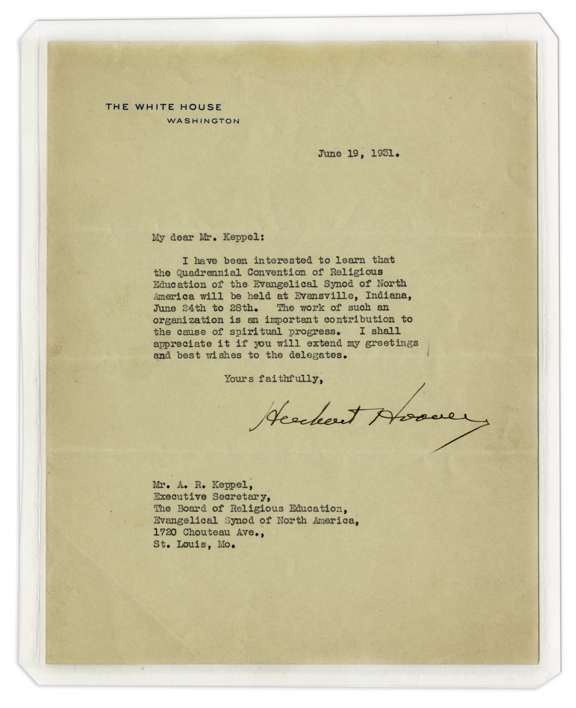 Lot detail herbert hoover typed letter signed as president herbert hoover typed letter signed as president ch an kristyandbryce Images
