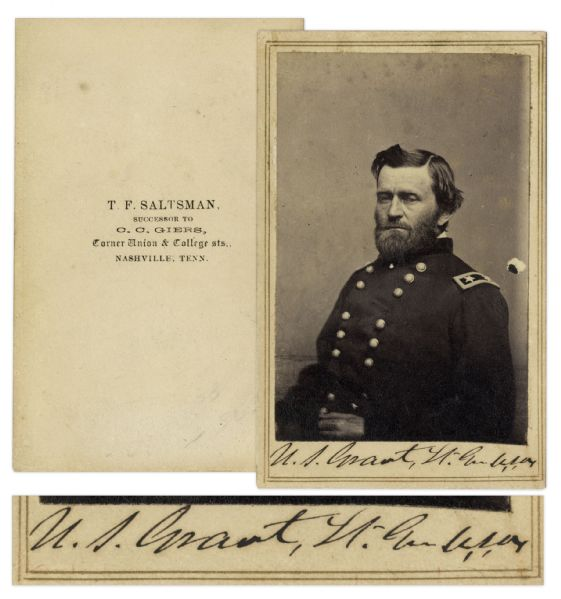 Ulysses S. Grant Signed CDV Signed as Lieutenant-General of the Union Army
