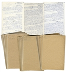 Incredible Archive of Internal Israeli Documents Dated 1948-1964 -- Includes 15 Handwritten Notebooks Regarding the Formation of Israel and Its Beginnings as a Nation -- Museum Quality