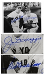 10 x 8 Joe DiMaggio and Ted Williams Signed Photo -- Bold, Blue Signatures -- With PSA/DNA COA