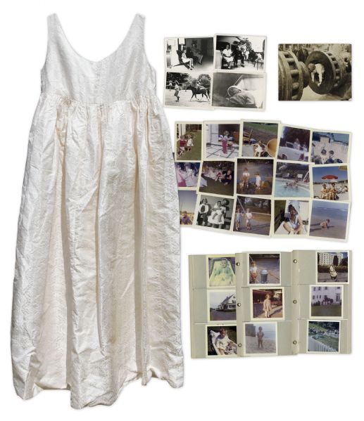 Jacqueline Kennedy Maternity Dress -- Worn While She Was Pregnant With Son John F. Kennedy Jr. in 1960 -- Includes Lot of 79 Never Before Seen Photographs From the Kennedy White House
