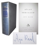 Ayn Rand Signed Atlas Shrugged -- Her Magnum Opus -- Special 10th Anniversary Edition Limited to 2,000