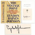 Lyndon B. Johnson Signed First Edition of His Memoir The Vantage Point: Perspectives on the Presidency 1963-1969