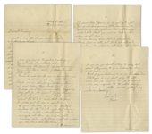 Rene Gagnon Autograph Letter Signed 5 Times -- From the Central Pacific 3 Months Before Iwo Jima -- ...you dont have to worry...there are a few white American girls, but there about 50...
