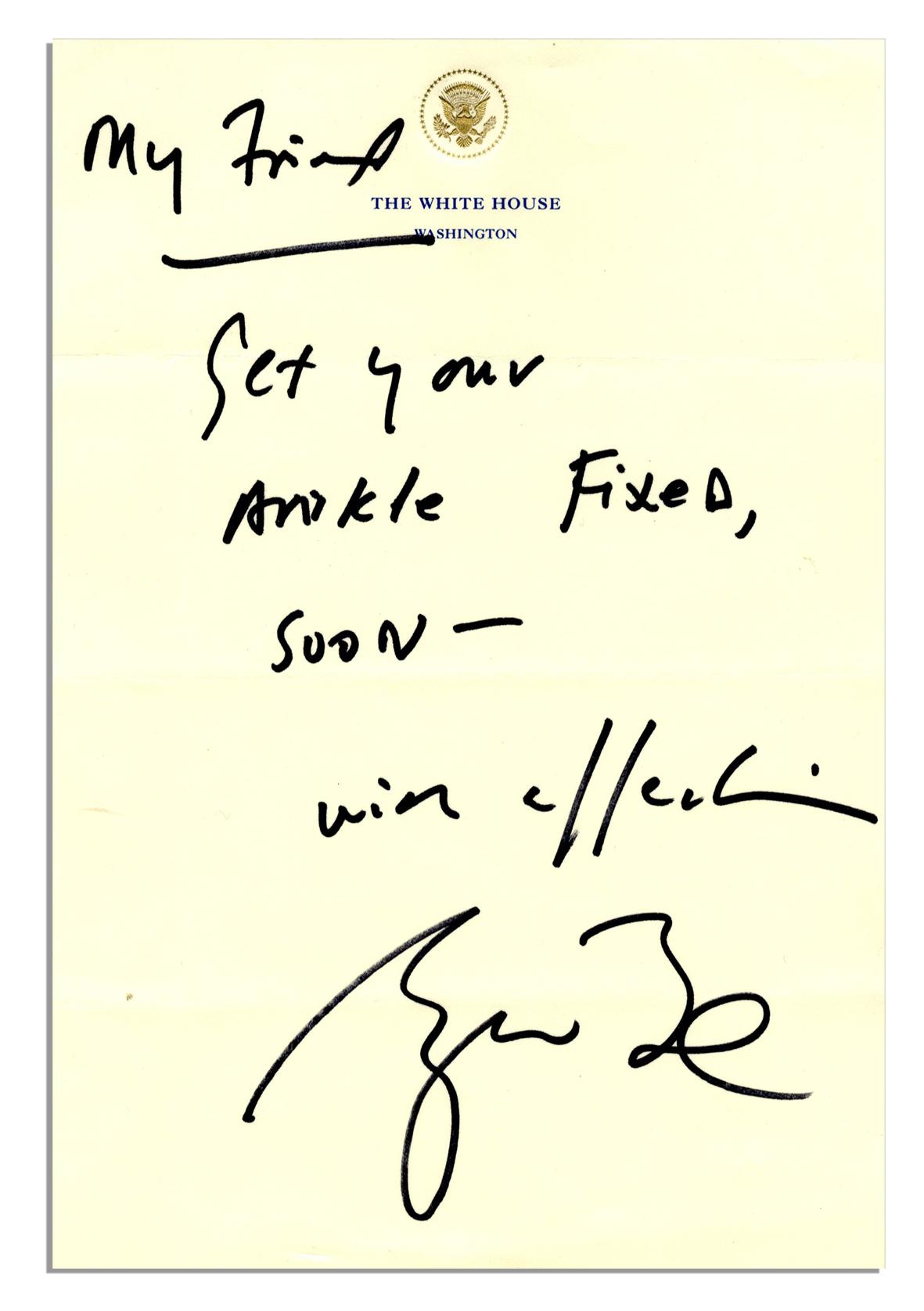 George Bush Autograph George Bush Memorabilia Sold At 9 375