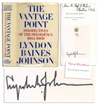 Lyndon B. Johnson Signed First Edition of His Memoir The Vantage Point