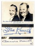 Jovial Laurel & Hardy Signed Photo