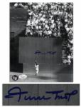 Famous World Series Photo From 1954, The Catch Signed by Willie Mays -- 8 x 10 Photo Is in Near Fine Condition -- With JSA LOA