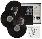 Leonard Bernstein Signed LP Record Set