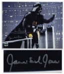 Star Wars 14 x 11 Photo Signed by Darth Vaders Voice, James Earl Jones and by Dave Prowse, Who Played Him Onscreen in the Original Trilogy -- Fine